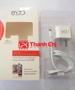 BYZ A6 - Bộ Sạc Pin Điện Thoại Iphone, Chuẩn Type Lightening, Hàng Chính Hãng BYZ, Gồm Có Cốc Sạc Và Cáp Dữ Liệu - LPK Thành Chi Mobile