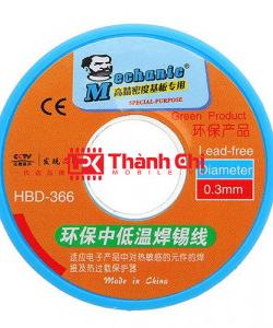 Mechanic HBD-366 0,3mm - Thiếc Dây / Thiếc Hàn Không Chứa Chì, Chính Hãng Mechanic, Trọng Lượng 100g, Kích Cỡ 0,3mm - LPK Thành Chi Mobile