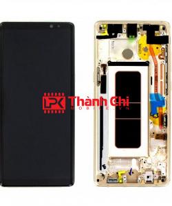 Samsung Galaxy Note 8 2017 / SM-N950F/DS / SM-N9500 - Màn Hình Nguyên Bộ Zin Bóc Máy Liền Khung, Màu Đen, Viền Benzen Gold - LPK Thành Chi Mobile